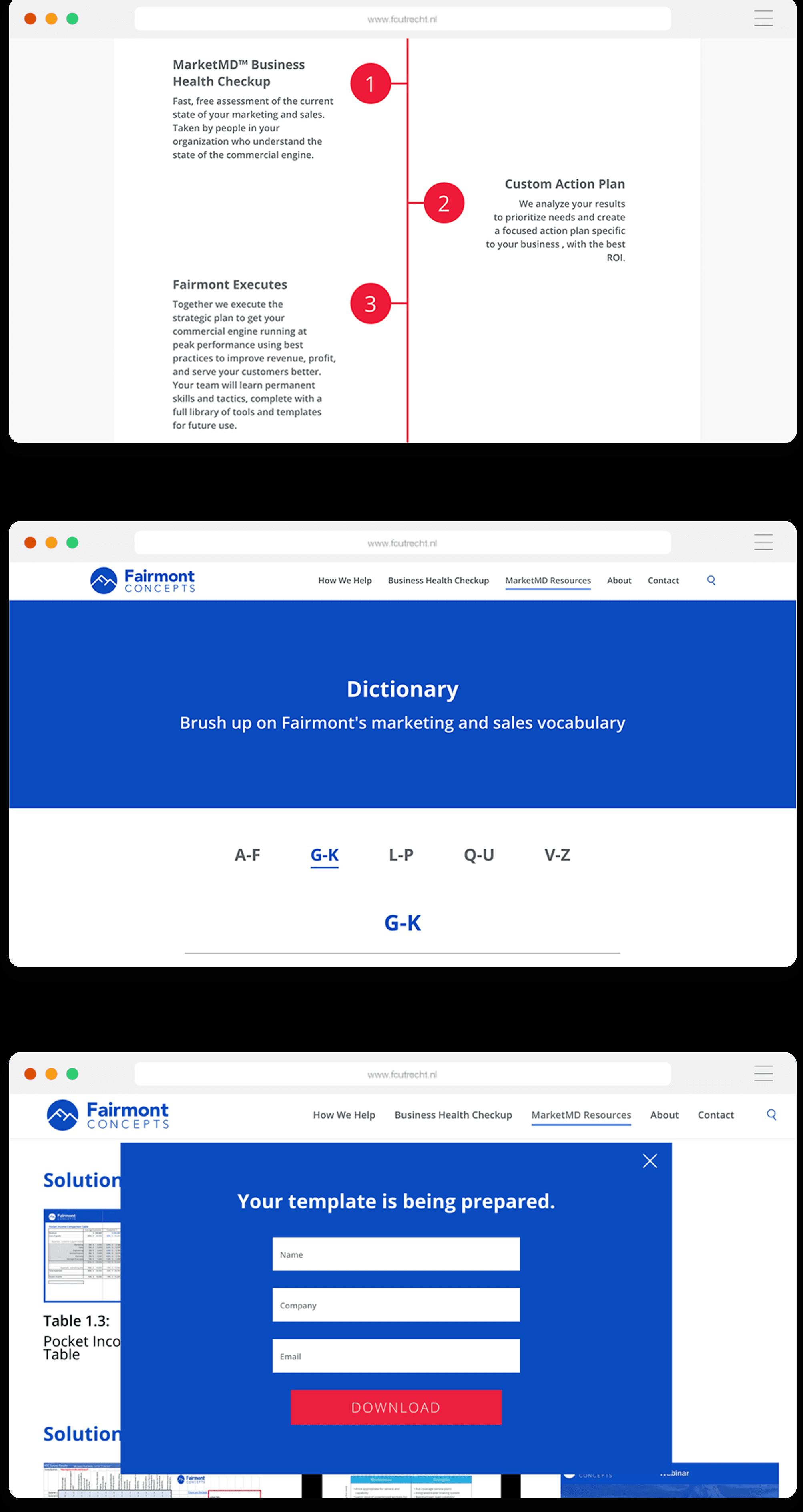fair concept desktop directory add