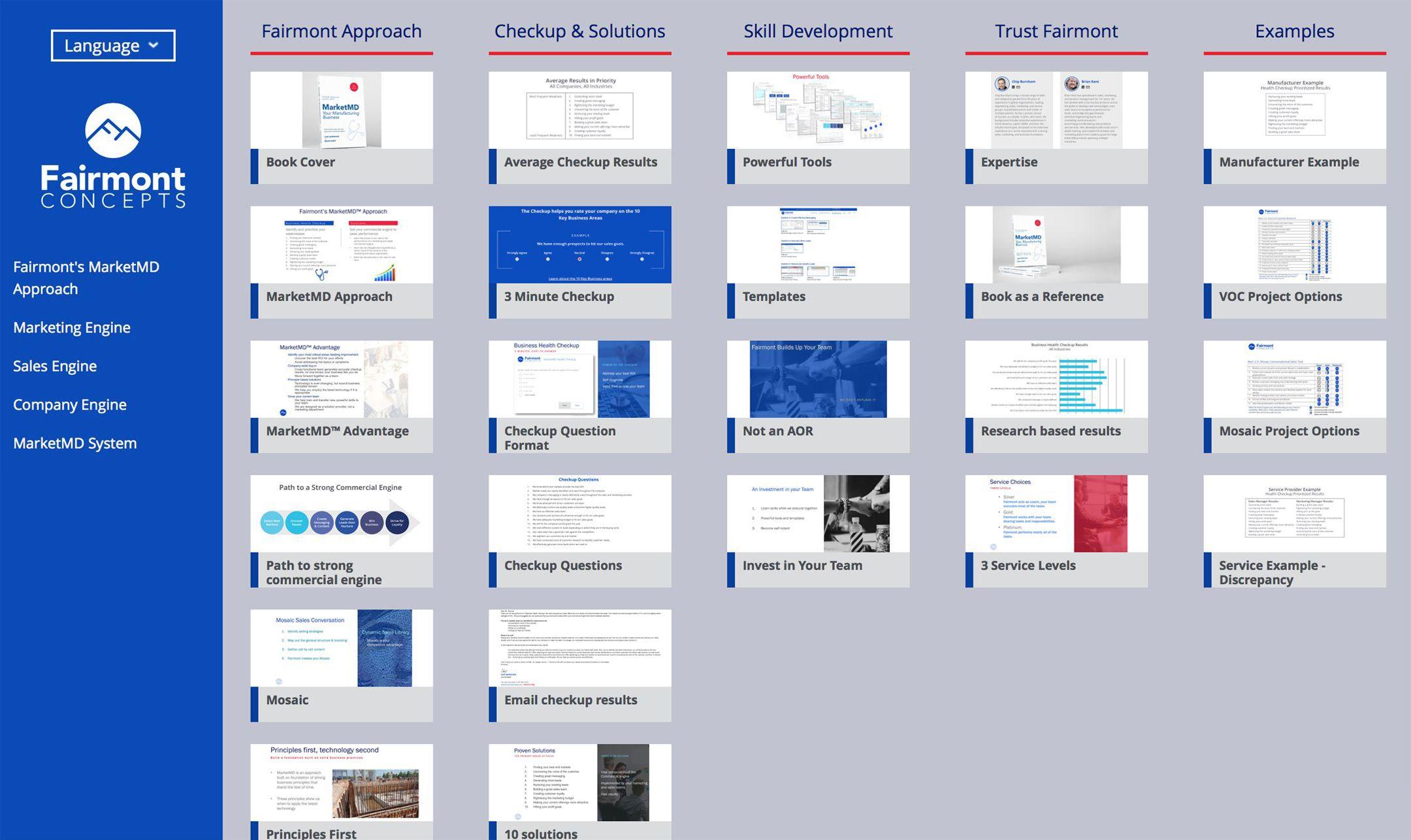 fairmont offline presentation list