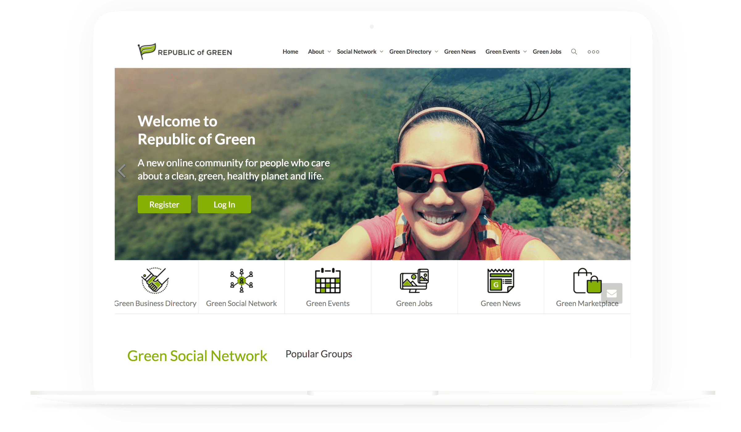 Republic Of Green Desktop UI UX Design
