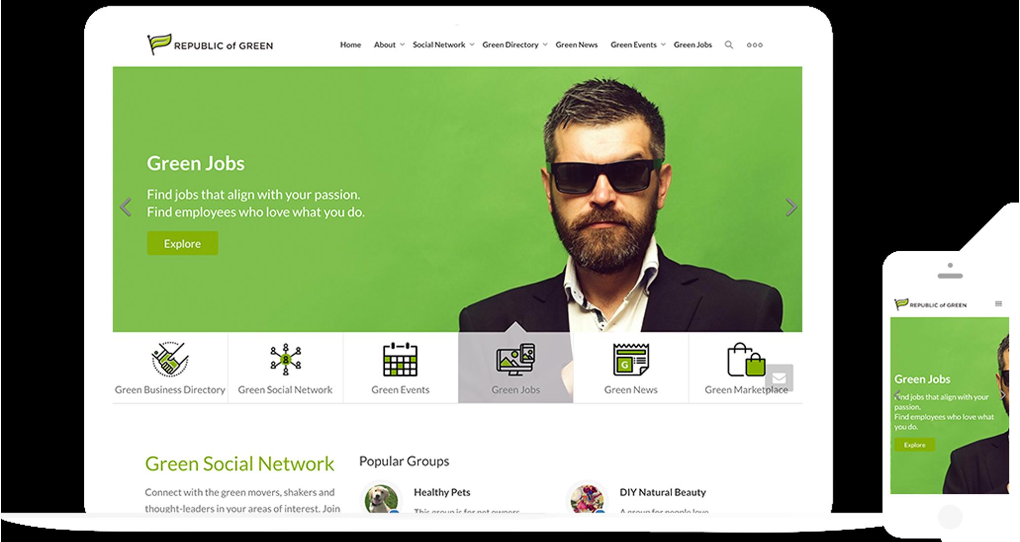 Republic Of Green Responsive Website