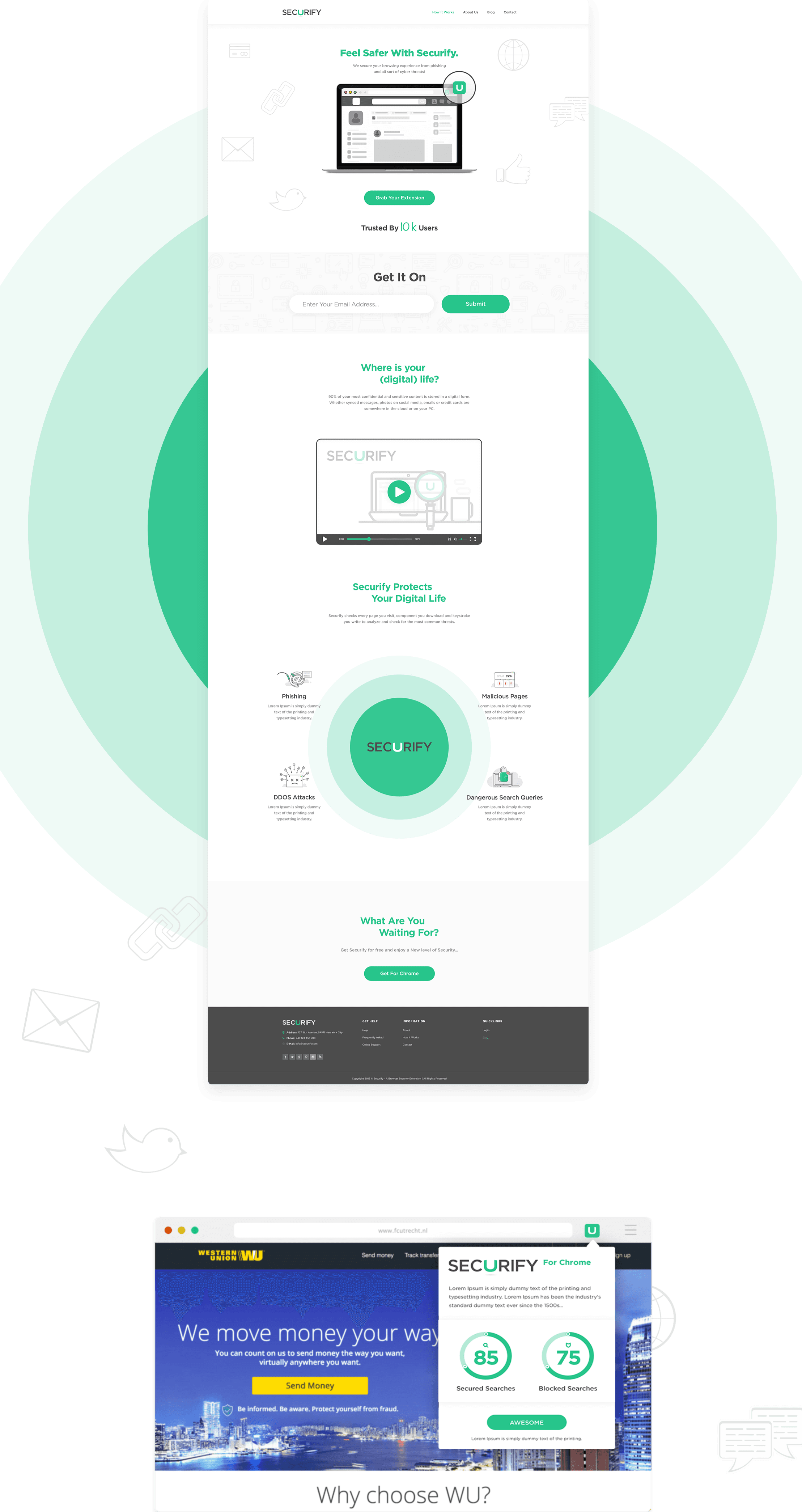 Securify Website Full Home Page View
