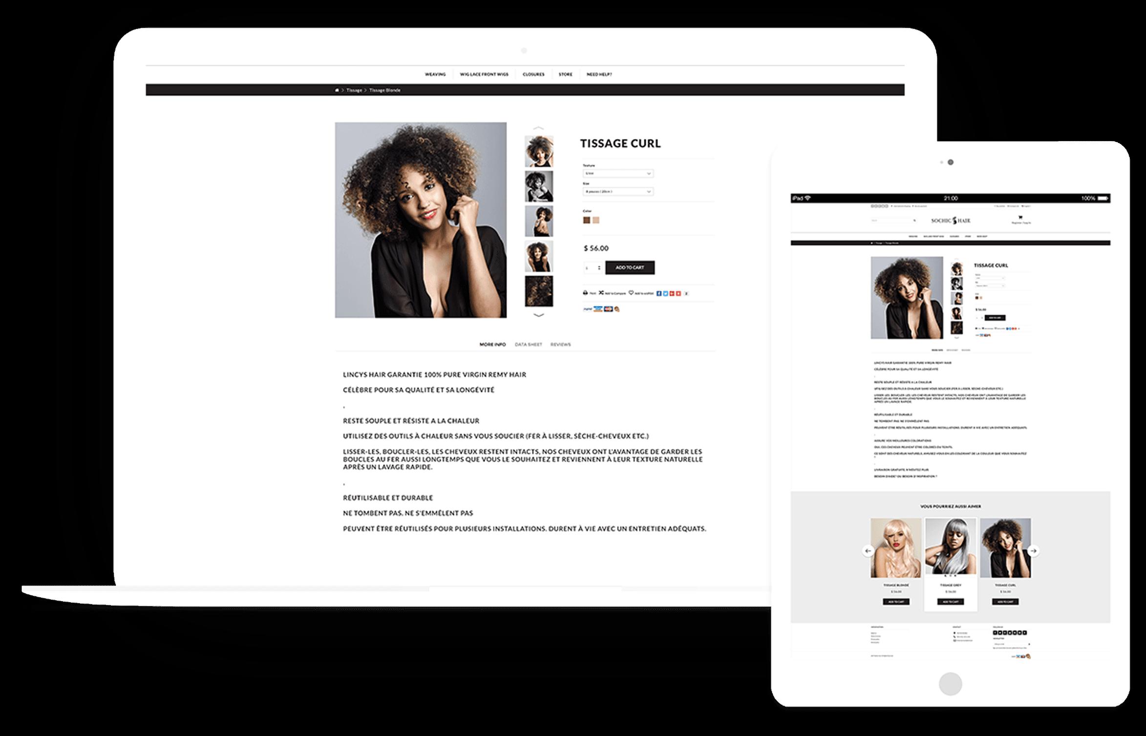 Responsive Sochic Hair Website